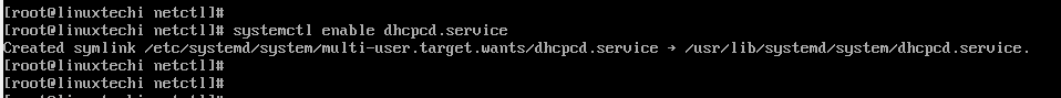 49-Enable dhcpcd service