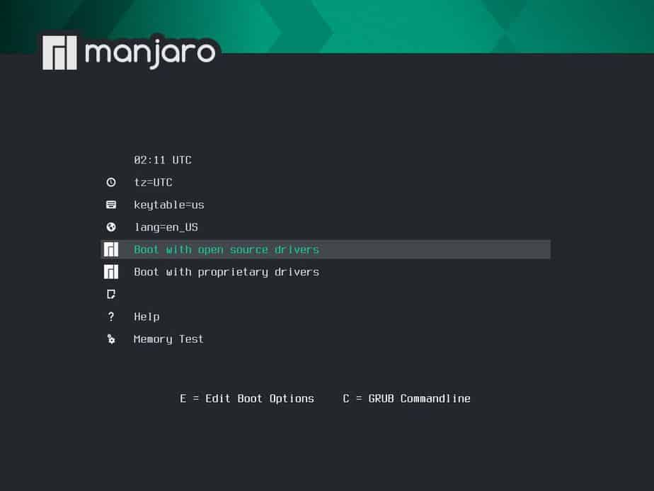 Choose-Boot-with-opensource-drivers