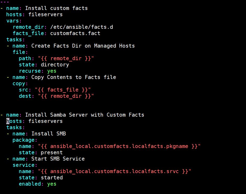 Customfacts-ansible-playbook