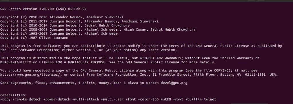 Screen-Command-Output-Linux
