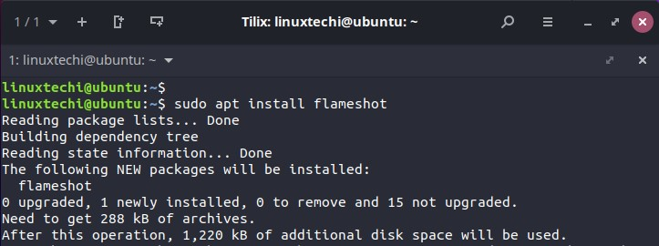 Install-Flameshot-with-apt-command