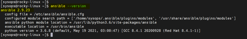 Ansible-Version-Check-Rocky-Linux8