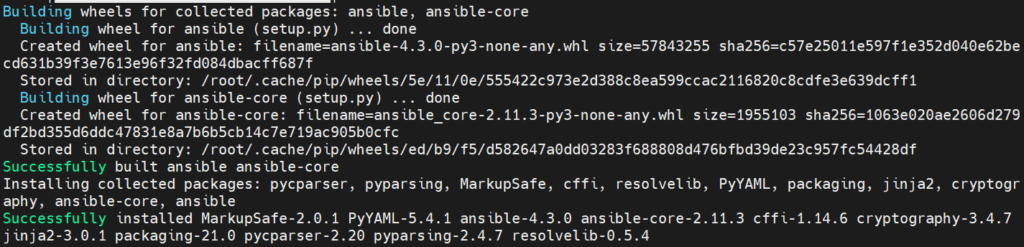 Successful-Ansible-Installation-Rocky-Linux8