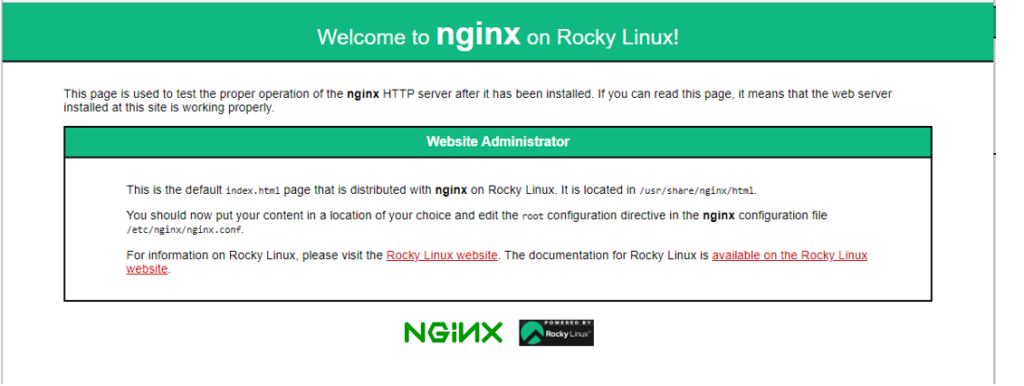 Nginx-default-page-rocky-linux